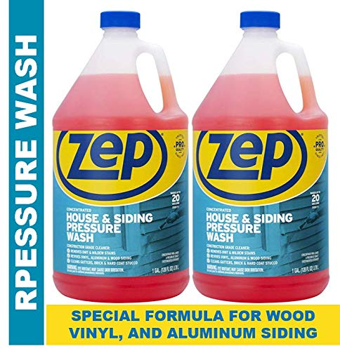 Zep House and Siding Pressure Wash Cleaner Concentrate 128 Ounce (Pack of 2) (Best Vinyl Siding Cleaner Solution)
