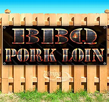 Many Sizes Available BBQ Pork Loin 13 oz Heavy Duty Vinyl Banner Sign with Metal Grommets New Flag, Advertising Store