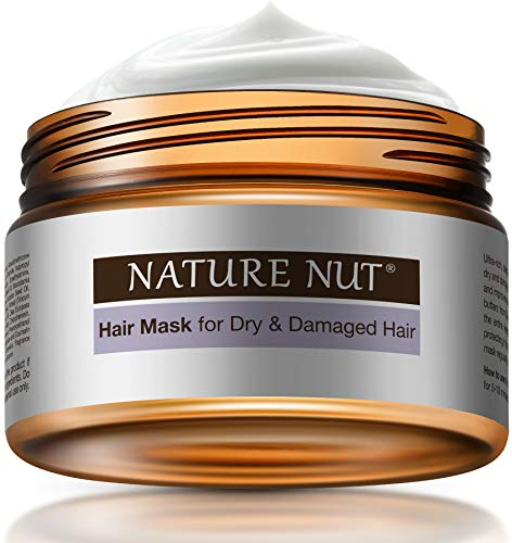 Hair Mask for Dry Damaged Hair – Hypoallergenic Deep Hair Conditioner Moisturizer Cream Hair Repair Treatment Masque with Five Nut Hydration Formula