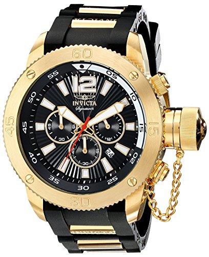 [Invicta Signature II Russian Diver Black Dial Chronograph Mens Watch 7427] (Invicta Russian Diver Chronograph)