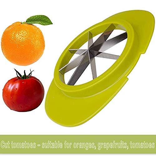 GCC Cortador Y Pelador De La Rebanadora De Apple para La Manija del Verdura-Silicón De La Fruta Y Las Láminas del Acero Inoxidable: Amazon.es: Hogar