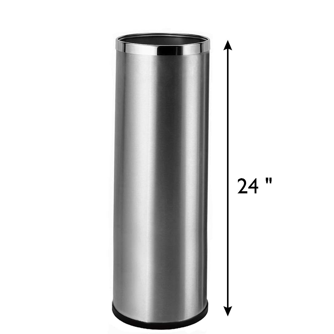 Bennett Umbrella Stand, Stainless Steel Round Style, w/Removable Inner Bucket 24'' Tall, Entry Hallway Décor Home, Office Decoration Rack Holds Umbrellas Canes Walking Sticks Great Gift Idea
