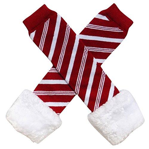 - Chiffon Ruffle Tutu Christmas Holiday Winter Styles Leg Warmers - One Size - Baby, Toddler, Girl (Candy Cane Stripe)
