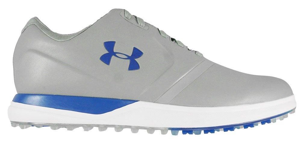 Under Armour Men's UA Performance SL Golf Shoes-Steel/Black/Marker Blue-Size 9.5-Medium B06Y6M83V3 Parent