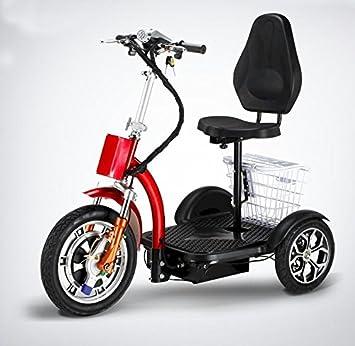 Amazon.com: Soporte y sentarse eléctrica plegable Scooter de ...