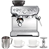 Breville BES870XL Barista Express Espresso Machine with Espresso Tamper, Frothing Pitcher & Two Tiara Cup and Saucers