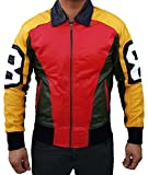 1980's 8 Ball Bomber Style Jacket For Men - Special Offer!! (Large, Real Leather)