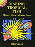 Marine Tropical Fish Stained Glass Coloring Book (Dover Stained Glass Coloring Book)
