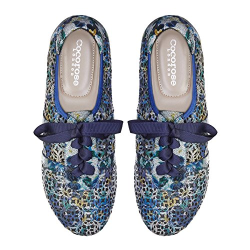 Trainers Blue Mosaic Ballet Cocorose Shoes Foldable Pumps Boots Samples Sandals Laser Cut 878qX1zwx