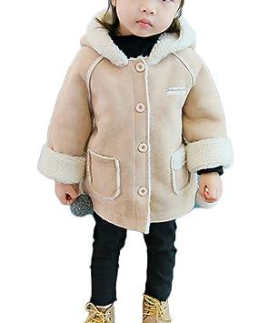 Niña Invierno Abrigo con Capucha Trenca Manga Larga Chaqueta Calentito Elegante Outwear Caqui 130CM: Amazon.es: Deportes y aire libre