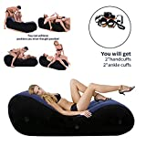 Inflatable Multifunctional Sofa - Yoga Chaise Lounge/Relax Chair -Bed Sofa with Handcuffs & Leg Cuffs- Portable Magic Cushion Ramp Body Pillow Inflatable Furniture Lounger for Couples