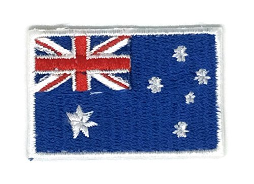 1.8 x 1.2 inches Australia Flag Patch Sew Iron on Embroidered Badge Symbol - Australia Priority To Mail