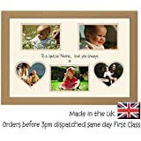 Special Nanna Personalised Love You Photo Picture Frame Multi Aperture Double Mounted Quality Gift (Oak Finish Frame Cream Mount Beige Inside) by Photos in a Word