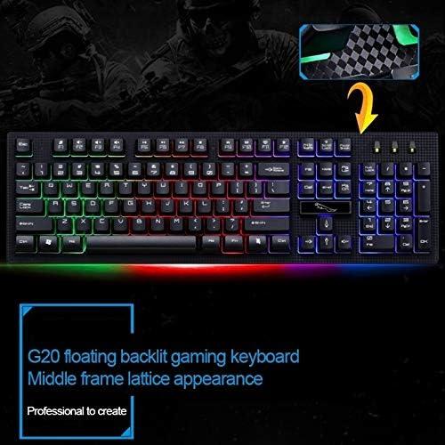 ZQ House ZGB G20 104 Keys USB Wired Mechanical RGB Backlight Computer Keyboard Gaming Keyboard Black Color : Black Durable