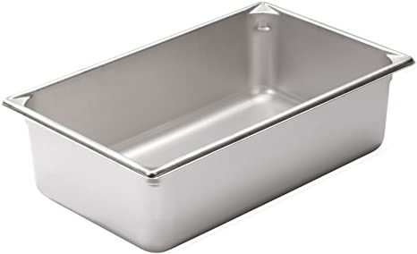 Stainless Steel Steam Pan Lid Cover 1//1 Size Bain marie Hot box Salad bar cafe