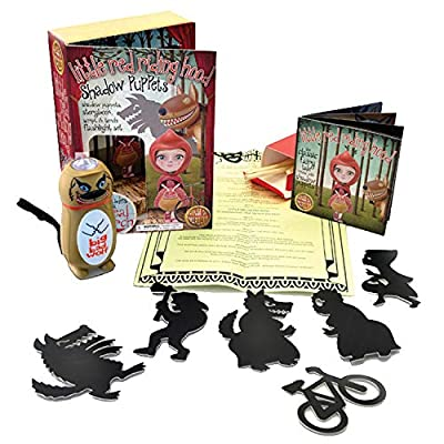 House of Marbles - Little Red Riding Hood Shadow Puppets & Flashlight Set: Toys & Games