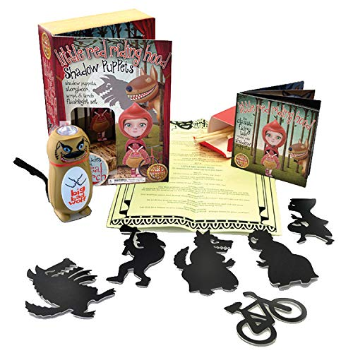 (House of Marbles - Little Red Riding Hood Shadow Puppets & Flashlight Set )