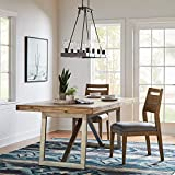 Stone & Beam Hughes Casual Wood Dining Room Kitchen Chairs, Beige, Set of 2