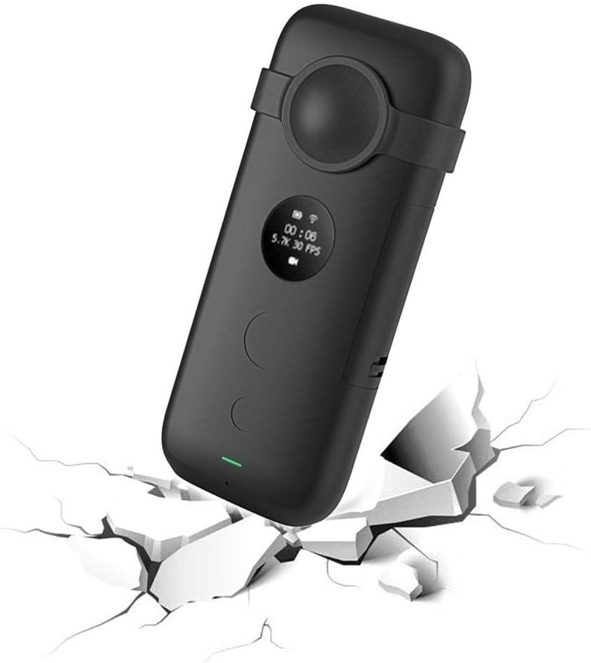 fancyU F/ür Insta360 One X Haltbarkeit Silikon Objektiv Fall F/ür Insta Panorama Motion Kamera
