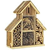 Gardirect Natural Insect Hotel, Bee and Butterfly House, Large Size (13'' Tall x 10-1/2'' Wide)