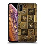 Official HBO Game of Thrones All Houses Golden Sigils Hard Back Case Compatible for iPhone Xs Max