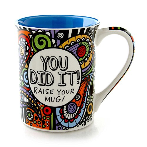 "Our Name is Mud ""You Did It!"" Cuppa Doodle Stoneware Mug, 16 oz."