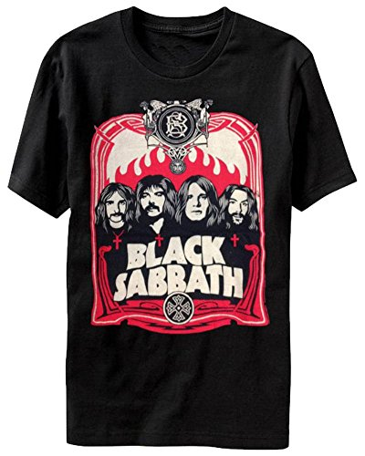 (Black Sabbath - Red Flames T-Shirt Size M)