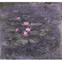 Oil Painting 'Water Lilies, 1914 By Claude Monet', 24 x 26 inch / 61 x 66 cm , on High Definition HD canvas prints is for Gifts And Laundry Room, Living Room And Study Room Decoration