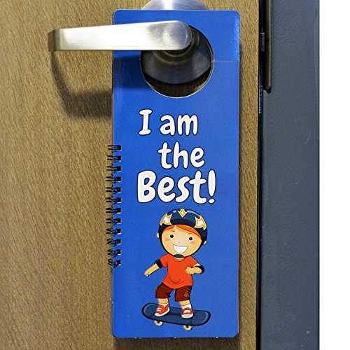 (AMAZING DOOR HANGER FOR BOYS | Set of 8 Binded Door Hangers with Funny Messages for Little Boys | Great Gift Idea for Boys Ages 5, 6, 7, 8, 9,)