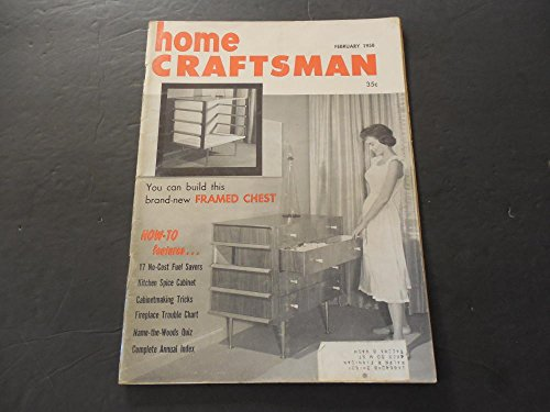 Home Craftsman Feb 1958 Spice Cabinet; Annual Index; (Craftsman Glass Cabinet)