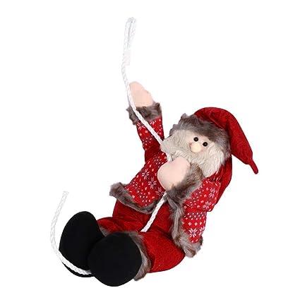 Amazon.com: SSYUNO - Decoración navideña de Papá Noel, árbol ...