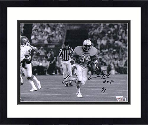 Framed Earl Campbell Houston Oilers Autographed 8