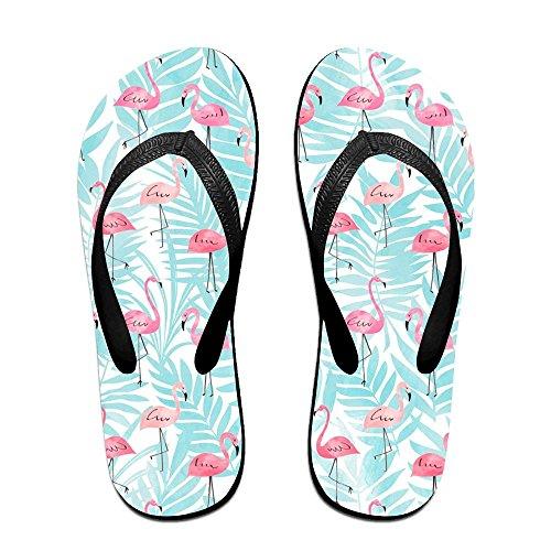 Black Flamingos for Slippers Flops Women Kids PTJHKET Men Flip Pink HXItqPwzn