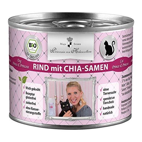 Boswelia Royal Menú - Bio vacuno con semillas de Chia Prince y Princess húmedo Forro gato, 1er Pack (1 x 1.2 kg): Amazon.es: Productos para mascotas