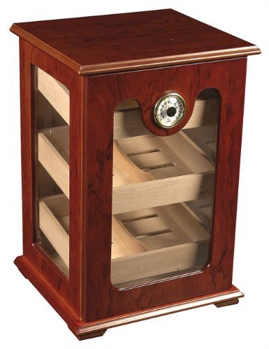 150 ct CIGAR HUMIDOR - BURL WOOD GREAT DISPLAY SHOW
