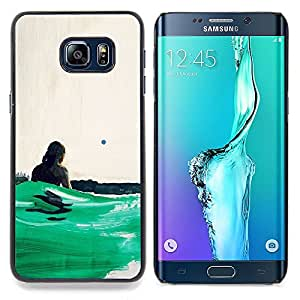 - Ocean Green Surfing Sun Summer - - Snap-On Rugged Hard Cover Case Funny HouseFOR Samsung Galaxy S6 Edge Plus