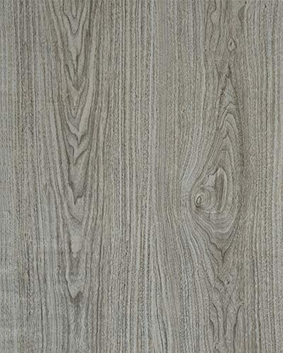 Gray Wood Contact Paper Adhesive Film Grey Wood Grain Texture Peel and Stick for Kitchen Cabinets Removable Furniture Desk Shelf Paper Drawer Liner Wooden Decorative Faux Vinyl Roll 1.47'x6.6' (Contact Paper Cover Laminate To)