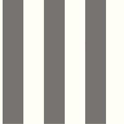 York Wallcoverings SA9175 Ashford Stripes 3 Inch Stripe Wallpaper Gray White