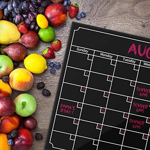 Konesky Tablero de Nevera Magn/ética Calendario Magn/ético Mensual Tabl/ón de Anuncios Tablero de la Lista de Comidas Organizador Punta de Marcador de Nota para la Cocina Oficina de la Nevera sin pluma