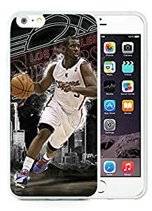 New Custom Design Cover Case For iPhone 6 Plus 5.5 Inch LA Clippers Chris Paul 4 White Phone Case