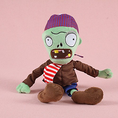Generic Collection 2018!!! Plants vs Zombies 2 PVZ Figures Plush Baby Staff Toy Stuffed Soft Doll (New Pirate Zombie) ()