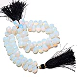 9 Inch Strand, 70 Pcs, Opalite -Faceted Fire Opal Tear Drop Briolettes Beads, 6x10-8x11mm Each, SKU-Ms4