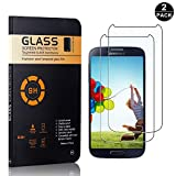 Galaxy S4 Tempered Glass Screen Protector, UNEXTATI® Premium HD Clear Anti Scratch Tempered Glass Film for Samsung Galaxy S4 (2 PACK)