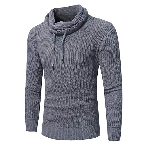 - Trutleneck Sweater Blouse Top Men Winter Pullover Tops by ZYAP Fashion Hoodies(Gray,2XL)