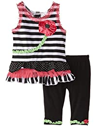 Baby Girls' 2 Piece Sleeveless Flower Design Shirt