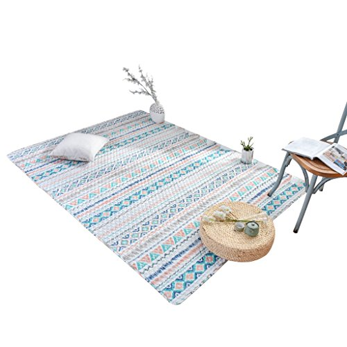 King Boutiques Rug Japanese Style Cotton Rectangular Baby Crawling Mat, Machine Washable Soft Bedroom Living Room Bedside Rug, Breathable Non-Slip Sofa Mat Household Products (Size : 90210cm)