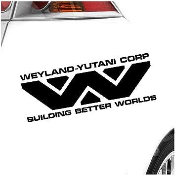 Hauptsachebeklebt Kiwistar Weyland Yutani Corporation Heckscheibe In 15 Farben Aufkleber Sticker Auto