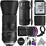 Tamron AFA022C700 SP 150-600mm f 5-6.3 Di VC USD G2 Zoom Lens for Canon DSLR Cameras w Essential Photo and Travel Bundle