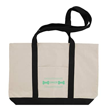 0fdcb15d3 Personalized Custom Text Pet Name Light Green Cotton Canvas Boat Tote Bag  Tote - Black