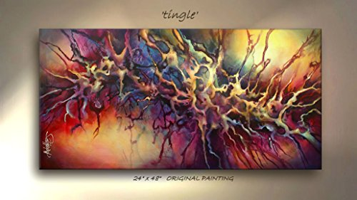 Abstract Art Modern Giclee Canvas Print of an Original Painting By Michael Lang 24